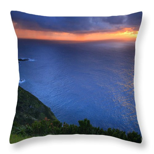 Island Throw Pillow featuring the photograph Azores Islands Sunset by Gaspar Avila
