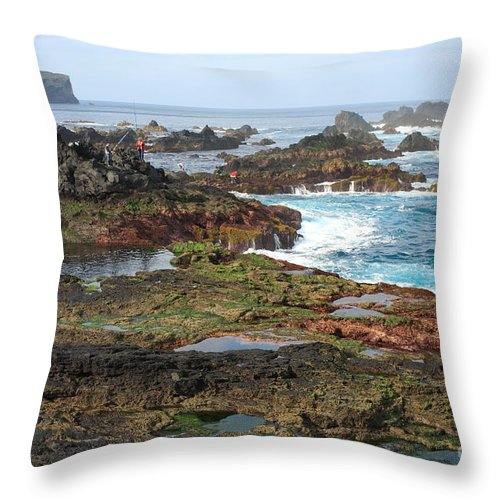 Atlantic Throw Pillow featuring the photograph Azores Seascape by Gaspar Avila