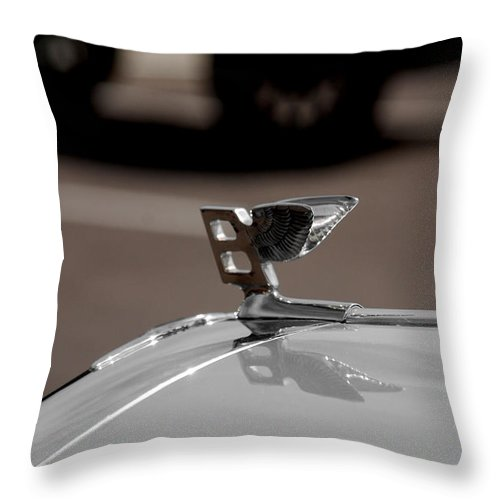Cars Throw Pillow featuring the photograph B For Bentley by Susanne Van Hulst