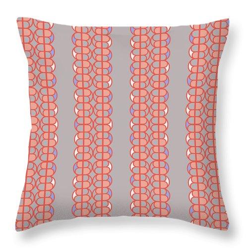 Grey Throw Pillow featuring the digital art B Honey by Ceil Diskin