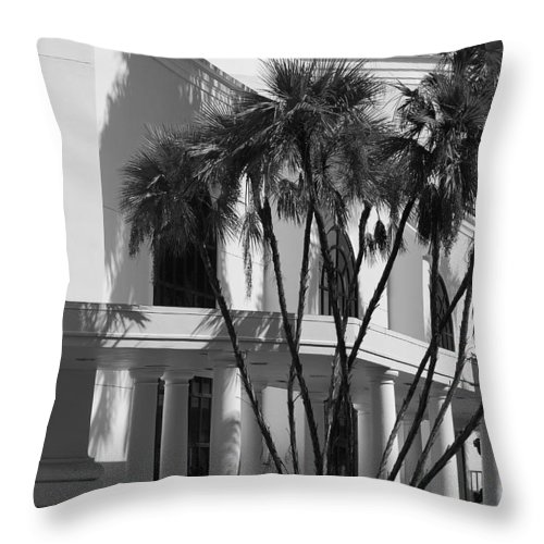 Black And White Throw Pillow featuring the photograph B S Post Modern..... by Rob Hans
