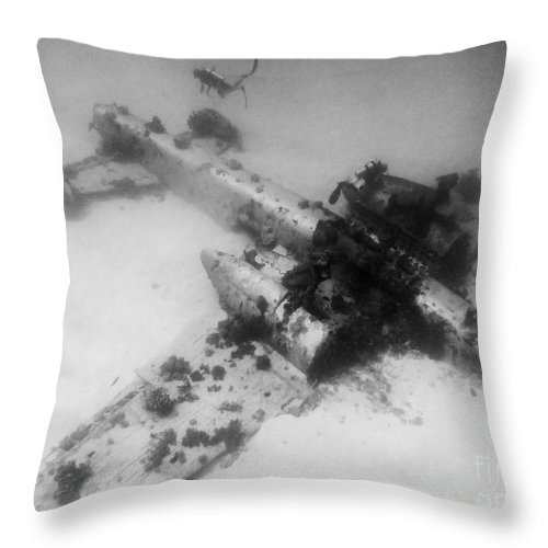 Coral Throw Pillow featuring the photograph B25 Mitchell 1 by Dan Norton