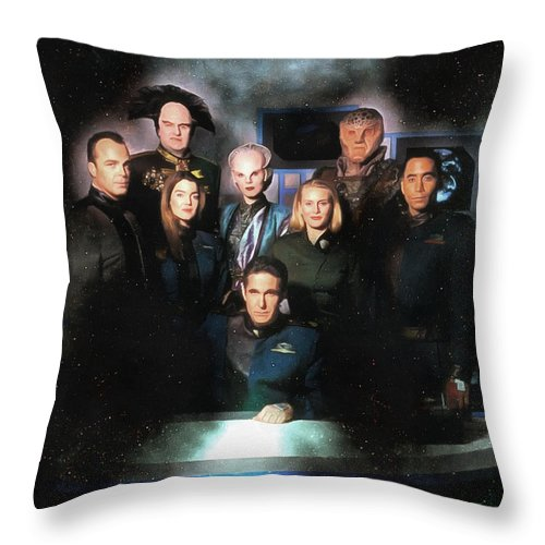 Space Throw Pillow featuring the photograph B5 Among The Stars by Mario Carini
