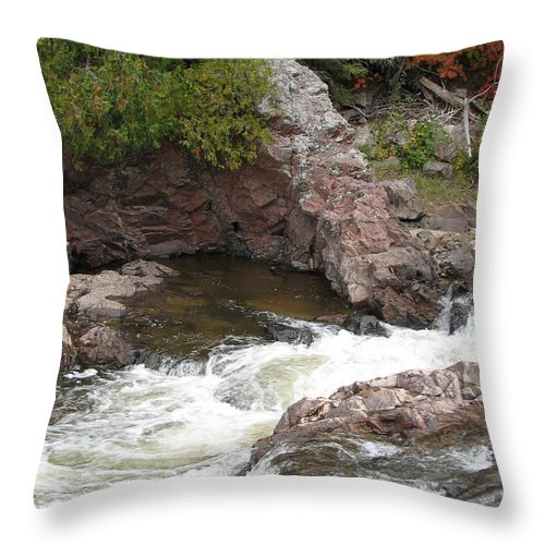 River Throw Pillow featuring the photograph Babbling by Kelly Mezzapelle