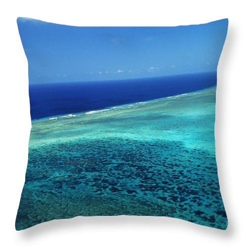 Above Throw Pillow featuring the photograph Babeldoap Islands by Allan Seiden - Printscapes