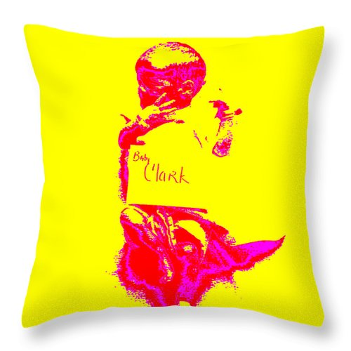 Square Throw Pillow featuring the digital art Baby Clark by Eikoni Images
