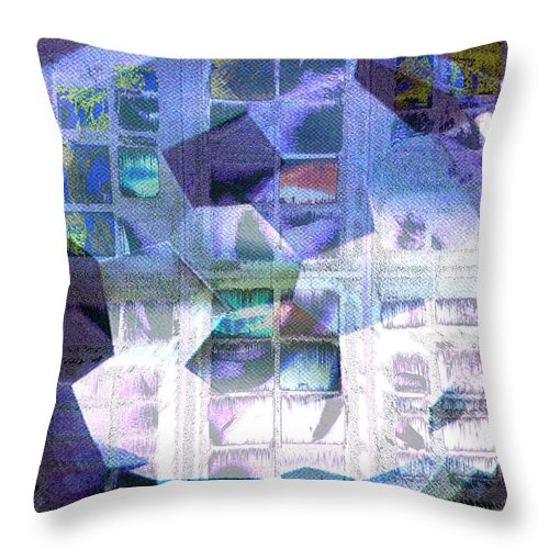 Windows Throw Pillow featuring the digital art Baby Its Cold Outside by Seth Weaver