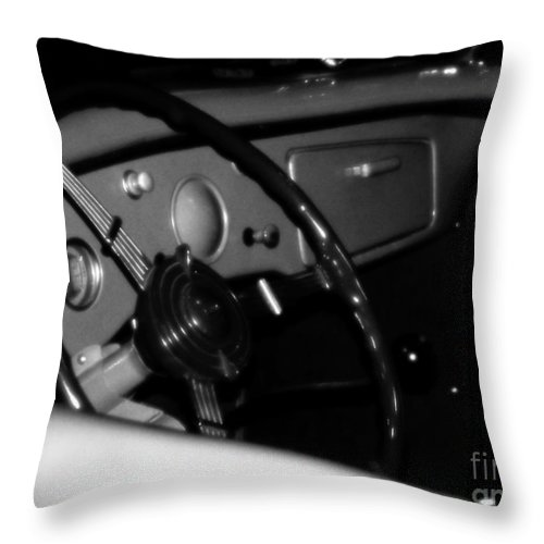 Black And White Throw Pillow featuring the photograph Baby You Can Drive My Car I by RC deWinter