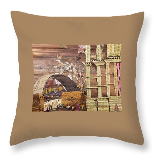 Back Door Entry For Relief To Disabled Throw Pillow featuring the mixed media Back Entry by Basant soni