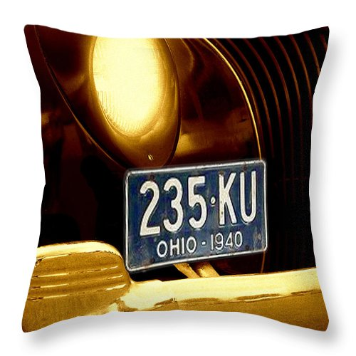 Car Throw Pillow featuring the photograph Back In The Day by Kenneth Krolikowski