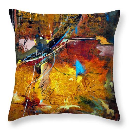 ruth Palmer Throw Pillow featuring the painting Back In The Saddle Again by Ruth Palmer
