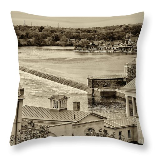Philadelphia Throw Pillow featuring the photograph Back Of Water Works by Jack Paolini