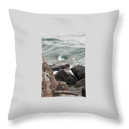 Wave Throw Pillow featuring the photograph Back Swirl by Kelly Mezzapelle