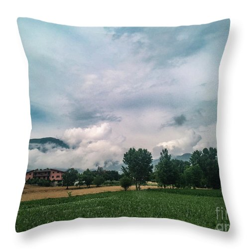 Cassno Throw Pillow featuring the photograph Back To Roma by Joseph Yarbrough