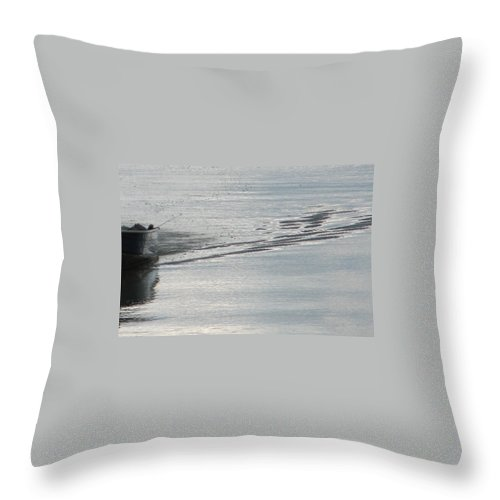 Lake Throw Pillow featuring the photograph Back To The Dock by Kelly Mezzapelle