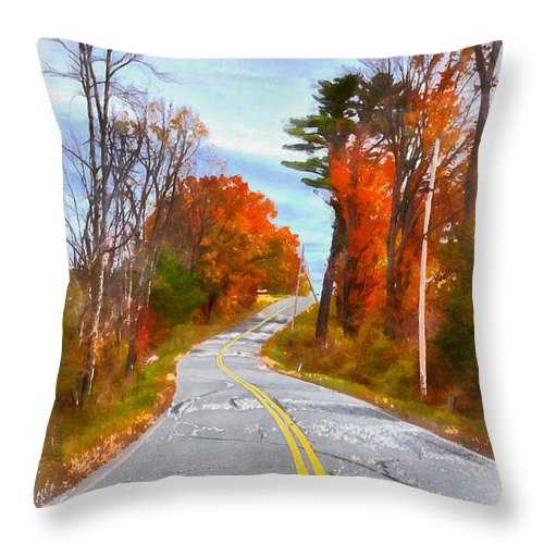 Vermont Throw Pillow featuring the painting Backroads Vermont by Edward Fielding