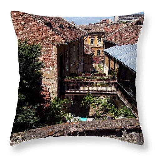 Backyard Throw Pillow featuring the photograph Backyard by Adrian Bud