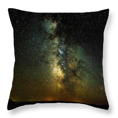 Badlands. South Dakota Throw Pillow featuring the photograph Badlands Milky Way by Kevin Esterline