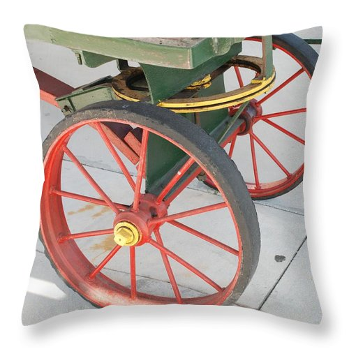 Baggage Cart Throw Pillow featuring the photograph Baggage Cart by Rob Hans