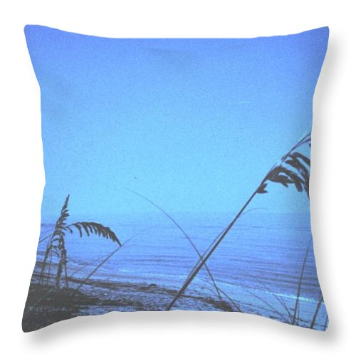 Throw Pillow featuring the photograph Bahama Blue by Ian MacDonald