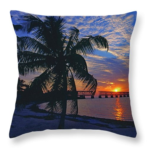 Usa Throw Pillow featuring the photograph Bahia Honda State Park, Florida Keys by Gary Corbett
