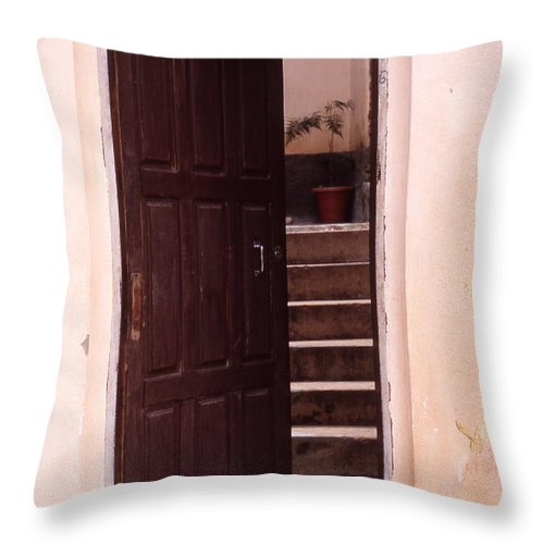 Bahia Throw Pillow featuring the photograph Bahian Opening by Patrick Klauss