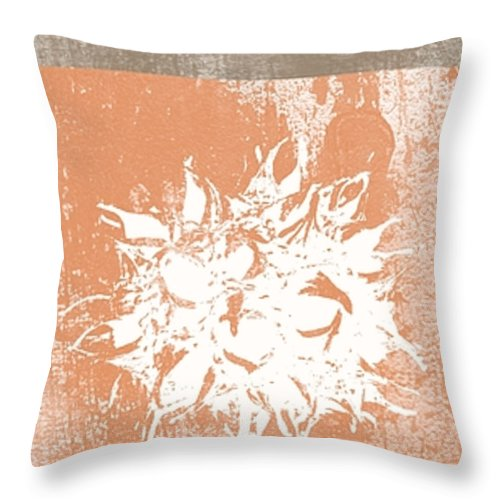 Balance Throw Pillow featuring the mixed media Balance by Linda Woods