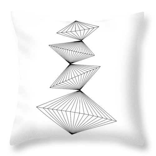 Line Drawing Throw Pillow featuring the digital art Balance by Sandi Hauanio
