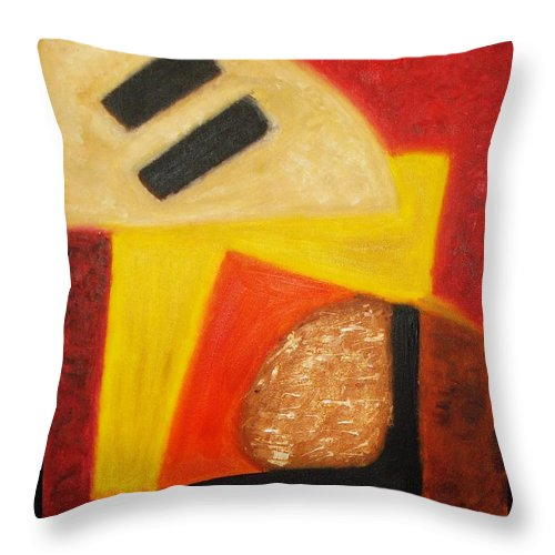 Oil Painting Throw Pillow featuring the painting Balance by Yael VanGruber