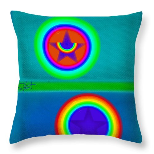 Balance Throw Pillow featuring the painting Balancing Act by Charles Stuart