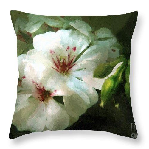 Classical Throw Pillow featuring the painting Balcony Beauty by RC DeWinter