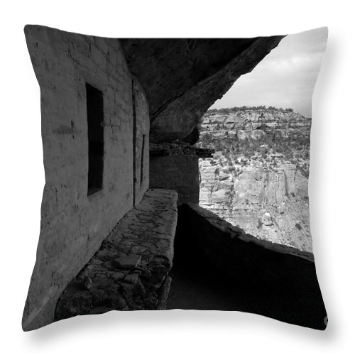 Balcony House Throw Pillow featuring the photograph Balcony House by David Lee Thompson