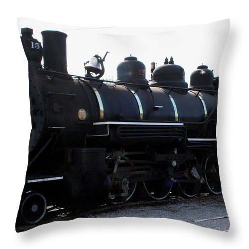 Railroad Throw Pillow featuring the photograph Baldwin Locomotive by Rebecca Smith