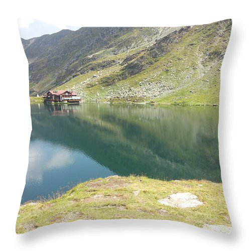 Throw Pillow featuring the photograph Balea Lake by Gabriel Gyorfi