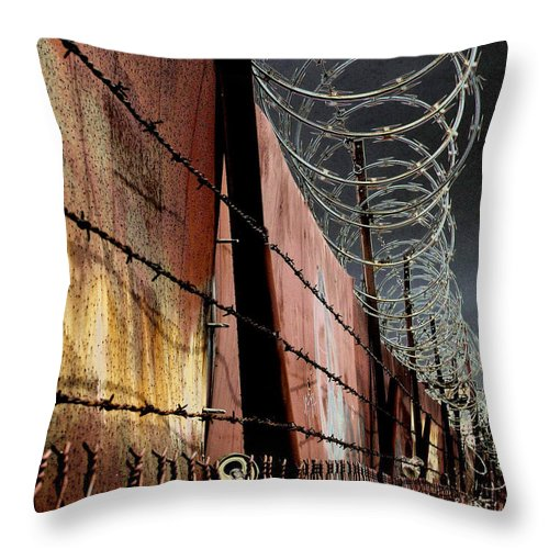 Wall Throw Pillow featuring the photograph Ballard In Seattle by Jeff Burgess