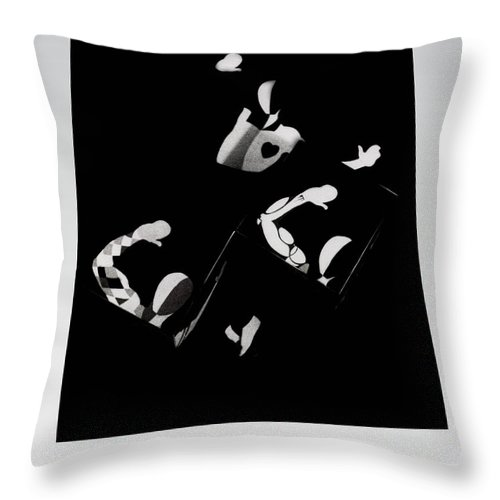 Dance Throw Pillow featuring the photograph Ballet Silouette by Charles Stuart