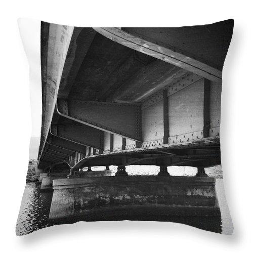 Bridge Throw Pillow featuring the photograph Ballona Creek Bridge by David Chatterton