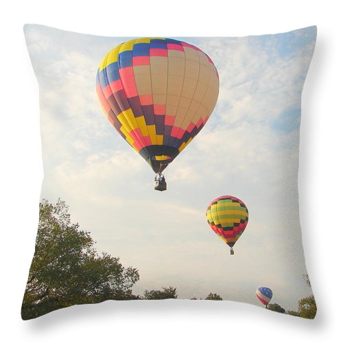 Throw Pillow featuring the photograph Balloon Race by Luciana Seymour