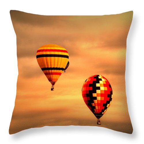 Balloons Throw Pillow featuring the photograph Balloons In The Morning by Jeff Swan