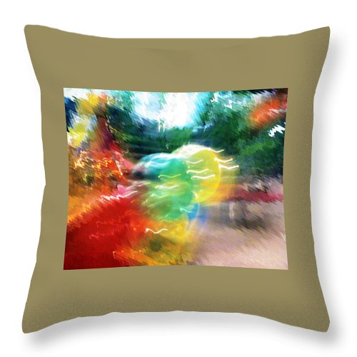 Baloons Throw Pillow featuring the painting Baloons N Lights by Anil Nene