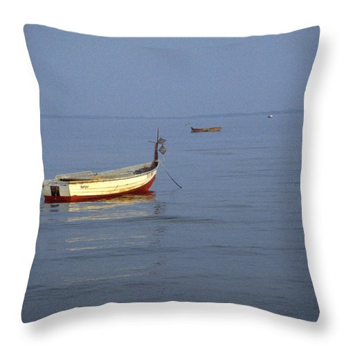 Baltic Sea Throw Pillow featuring the photograph Baltic Sea by Flavia Westerwelle
