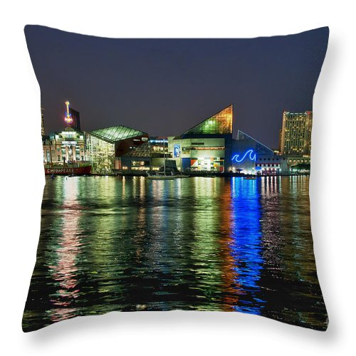 Baltimore Throw Pillow featuring the photograph Baltimore Skyline by John Greim