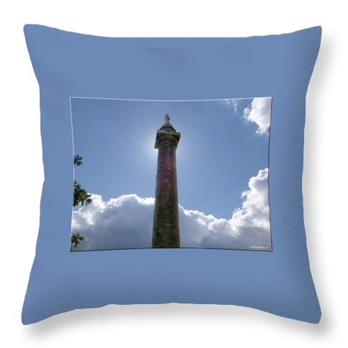 2d Throw Pillow featuring the photograph Baltimore's Washington Monument by Brian Wallace