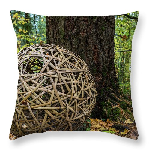 Bamboo Ball Throw Pillow featuring the photograph Bamboo Ball by George Herbert