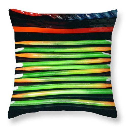 Home Decor Throw Pillow featuring the mixed media Bamboo Decor by Armand Elgrissy