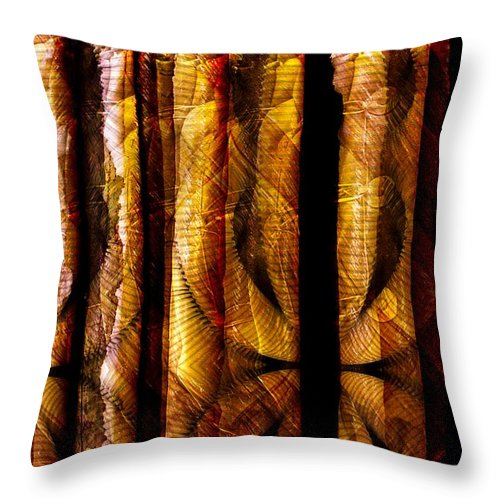 Bamboo Throw Pillow featuring the digital art Bamboo by Ron Bissett