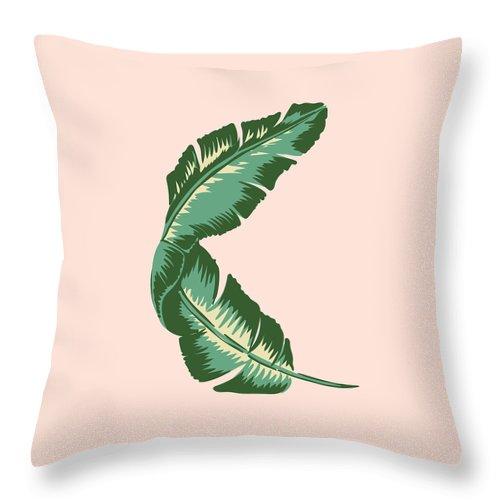Leaf Throw Pillow featuring the digital art Banana Leaf Square Print by Lauren Amelia Hughes
