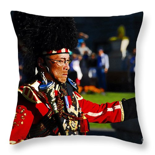 Band Leader Throw Pillow featuring the photograph Band Leader by David Lee Thompson