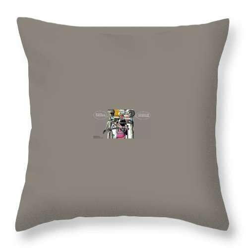 Alien Nutz Comics Throw Pillow featuring the mixed media Bangkok 2 by Robert aka Bobby Ray Howle