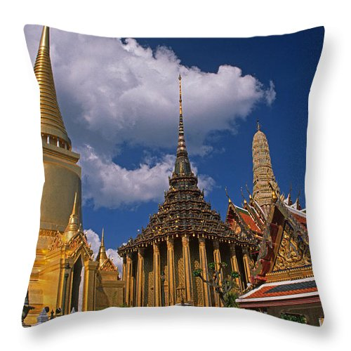 Asia Throw Pillow featuring the photograph Bangkok by Michele Burgess